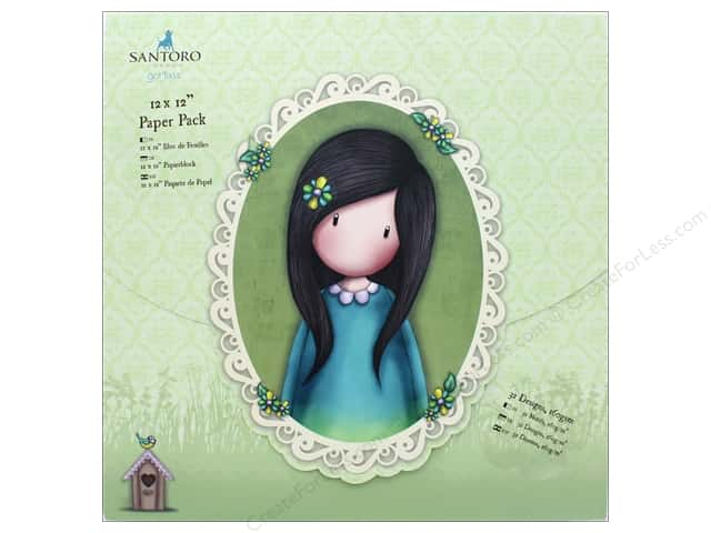 Docrafts Santoro Gorjuss In The Garden Paper Pack 12 in. x 12 in.