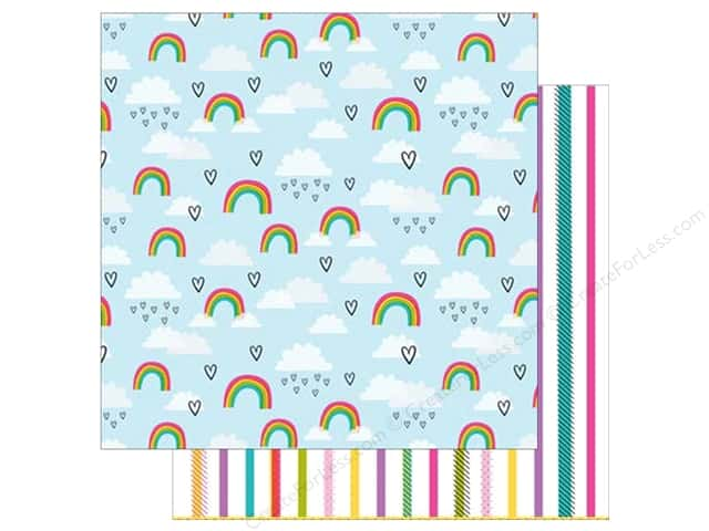American Crafts Collection Shimelle Glitter Girl Paper 12 in. x 12 in.  Level Up (25 pieces)