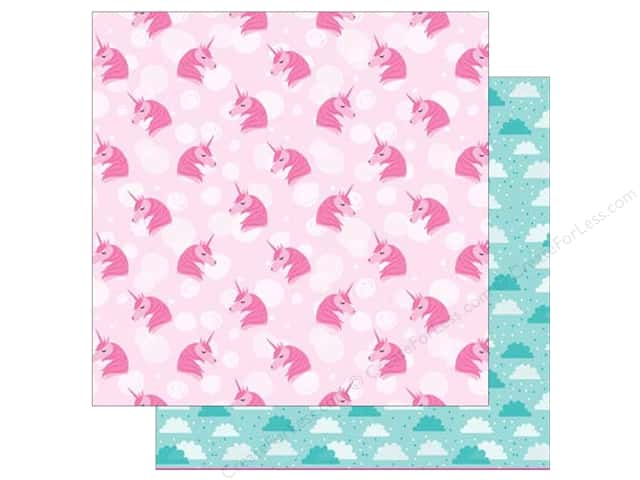 American Crafts Collection Shimelle Glitter Girl Paper 12 in. x 12 in. Think Pink (25 pieces)