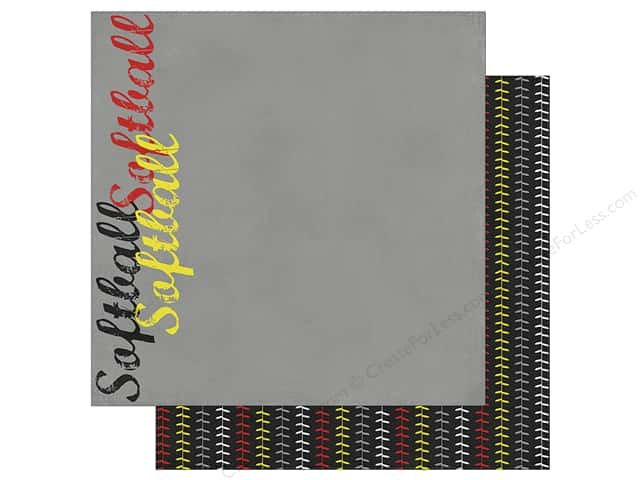Simple Stories Collection Softball Paper 12 in. x 12 in. Curve Ball (25 pieces)