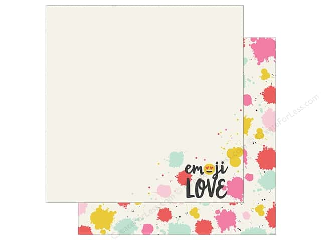 Simple Stories Collection Emoji Love Paper 12 in. x 12 in. HAHA