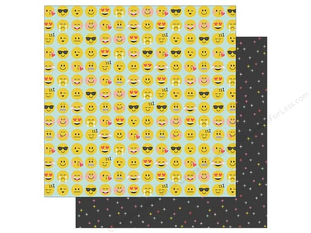 Simple Stories Collection Emoji Love Paper 12 in. x 12 in. YAY