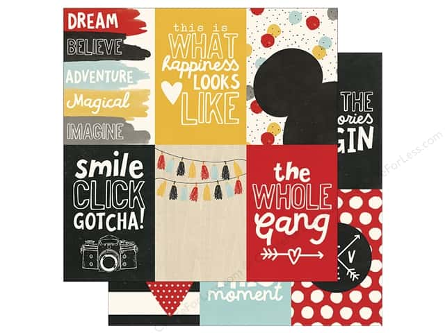 "Simple Stories Collection Say Cheese III Paper 12""x 12"" Element 4""x 6"" Vertical (25 pieces)"