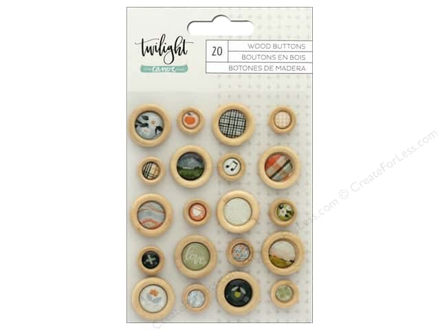 American Crafts Collection One Canoe Two Twilight Buttons Epoxy Wood