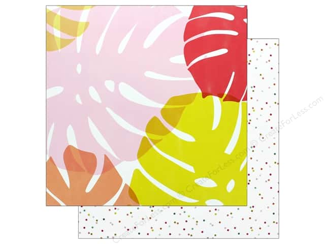 Pink Paislee Collection Confetti Wishes Paper 12 in. x 12 in. Paper 3 (25 pieces)