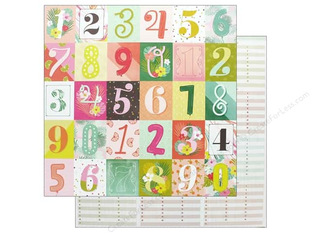 Pink Paislee Collection Confetti Wishes Paper 12 in. x 12 in. Paper 10 (25 pieces)