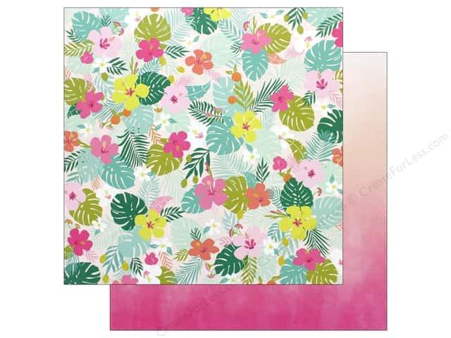Pink Paislee Collection Confetti Wishes Paper 12 in. x 12 in. Paper 5 (25 pieces)