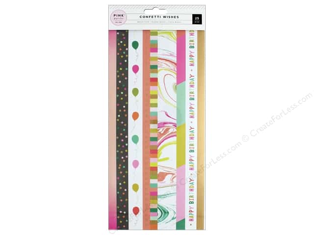 Pink Paislee Collection Confetti Wishes Washi Tape Book