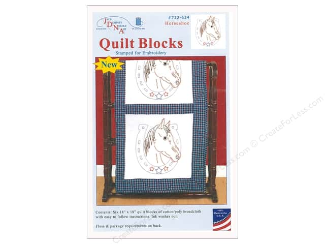 Jack Dempsey Quilt Block 18 in. White Horseshoe 6 pc