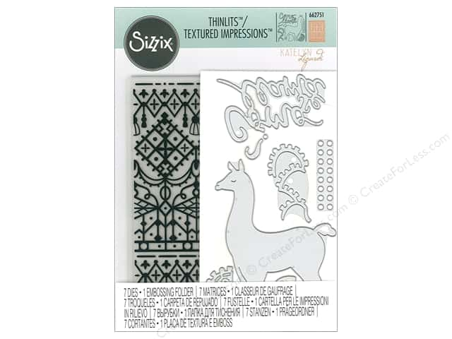 Sizzix Die & Emboss Folder Katelyn Lizardi Thinlits With Textured Impressions Como Se Llama