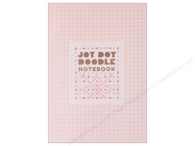 Abrams Jot Dot Doodle Notebook Pink And Rose Gold