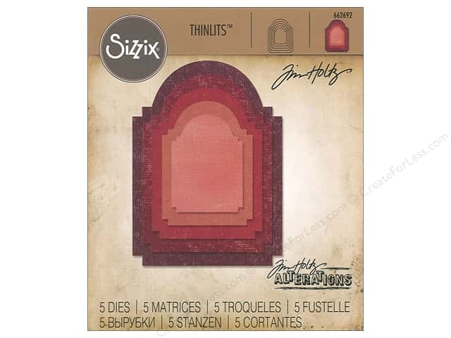 Sizzix Dies Tim Holtz Thinlits Stacked Archway