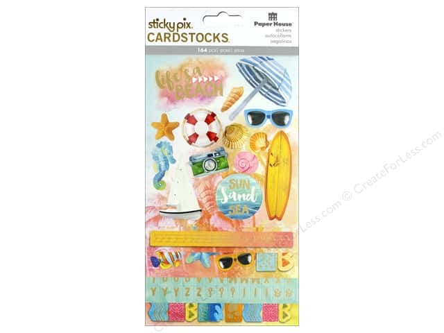 Paper House Sticker Cardstock Sundrenched