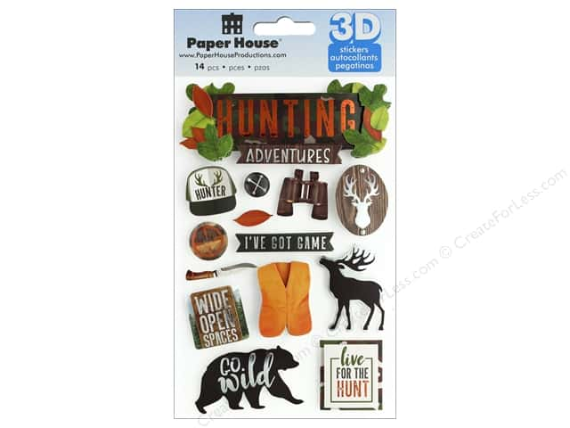 Paper House Sticker 3D Hunting Adventures
