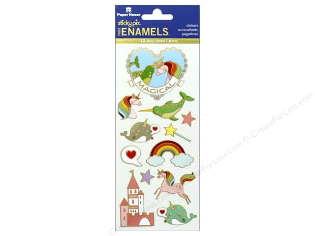 Paper House Sticker Enamel Magical