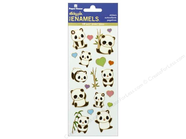 Paper House Sticker Enamel Pandas