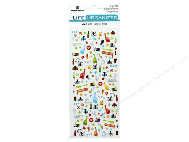 Paper House Collection Life Organized Sticker Micro Sports Fan