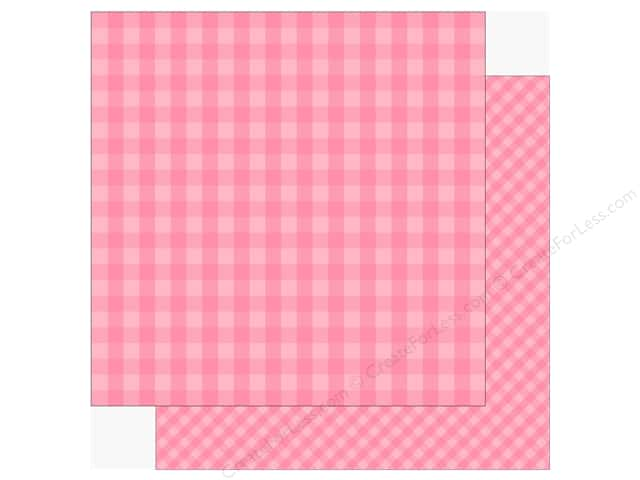 Echo Park Collection Dot & Stripe Spring Paper 12 in. x 12 in.  Raspberry (25 pieces)