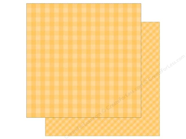 Echo Park Collection Dot & Stripe Spring Paper 12 in. x 12 in. Banana Cream (25 pieces)