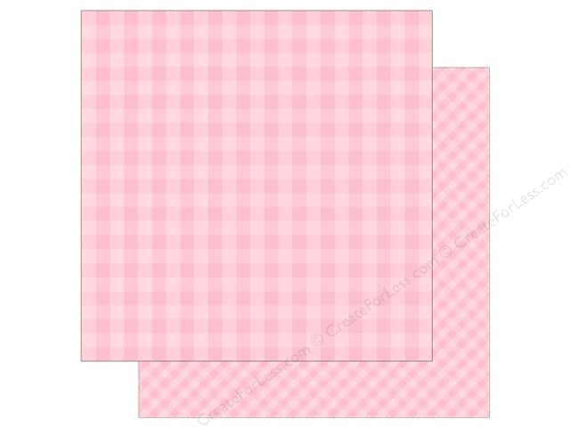 Echo Park Collection Dot & Stripe Spring Paper 12 in. x 12 in.  Strawberry (25 pieces)