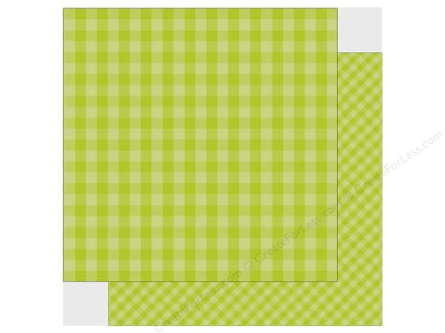 Echo Park Collection Dot & Stripe Spring Paper 12 in. x 12 in. Key Lime (25 pieces)
