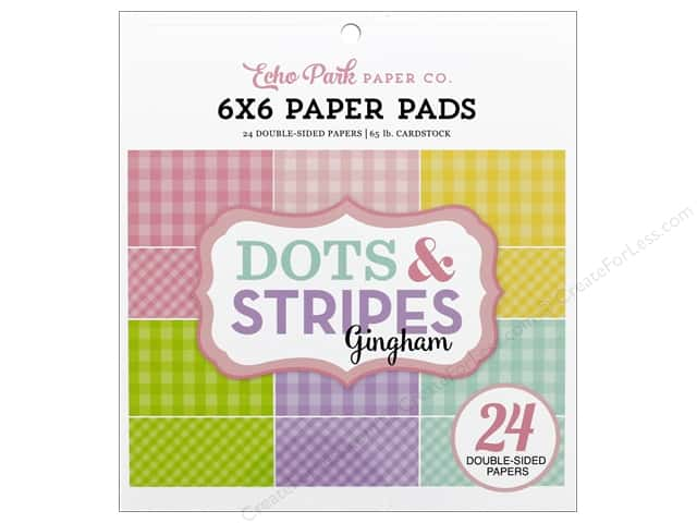 Echo Park Collection Dot & Stripe Spring Paper Pad 6 in. x 6 in.