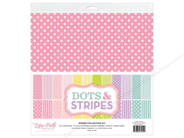 Echo Park Collection Dot & Stripe Spring Collection Kit 12 in. x 12 in.