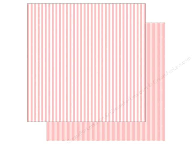 Echo Park Collection Dot & Stripe Spring Stripe Paper 12 in. x 12 in.  Strawberry (25 pieces)