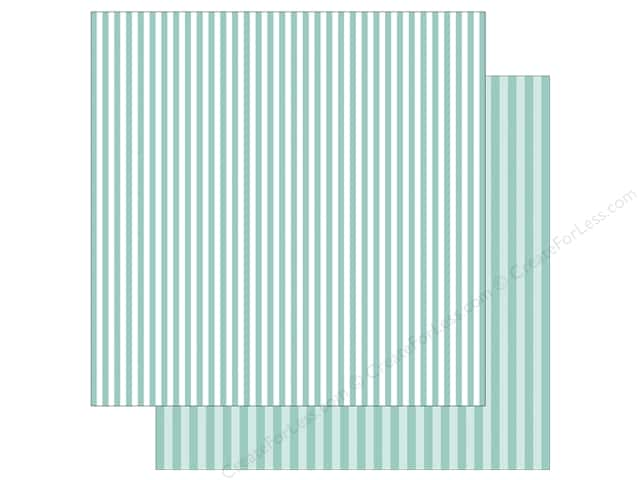 Echo Park Collection Dot & Stripe Spring Stripe Paper  12 in. x 12 in.  Blueberry (25 pieces)
