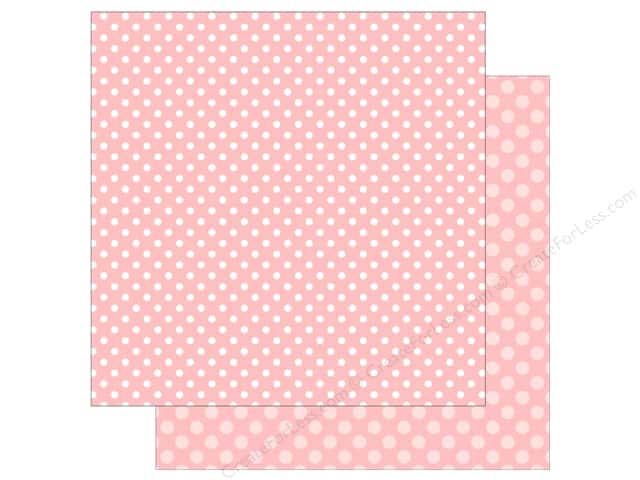 Echo Park Collection Dot & Stripe Spring Dot Paper 12 in. x 12 in. Strawberry (25 pieces)