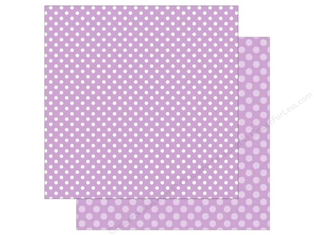 Echo Park Collection Dot & Stripe Spring Dot Paper 12 in. x 12 in. Huckleberry (25 pieces)