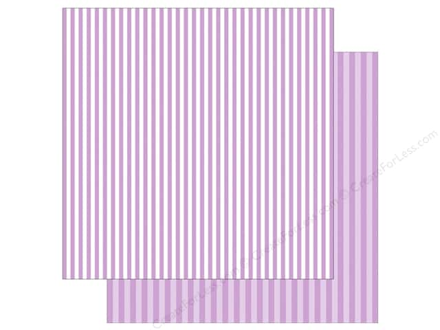 Echo Park Collection Dot & Stripe Spring Stripe Paper  12 in. x 12 in. Huckleberry (25 pieces)