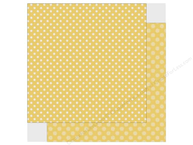 Echo Park Collection Dot & Stripe Spring Dot Paper 12 in. x 12 in. Banana Cream (25 pieces)