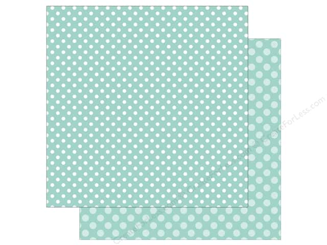 Echo Park Collection Dot & Stripe Spring Dot Paper  12 in. x 12 in.  Blueberry (25 pieces)