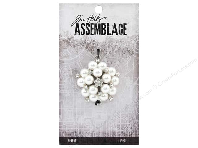 Tim Holtz Assemblage Pendant Pearl Cluster