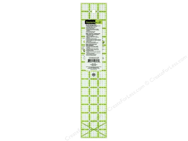 Omnigrid Omnigrip Non-Slip Neon Ruler 3 in. x 16 in. Hexagon