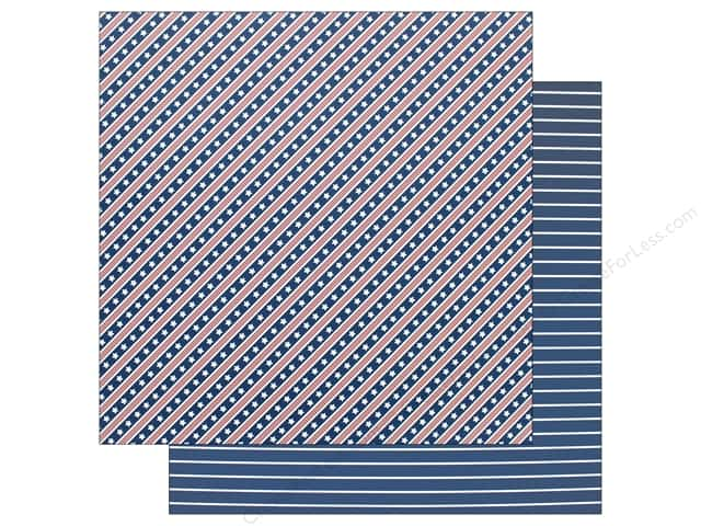 Pebbles Land That I Love Paper 12 in. x 12 in. Stars And Stripes Forever (25 pieces)