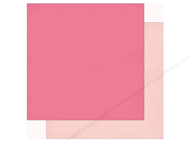 Echo Park Imagine That Girl Paper  12 in. x 12 in. Dark Pink/Light Pink (25 pieces)