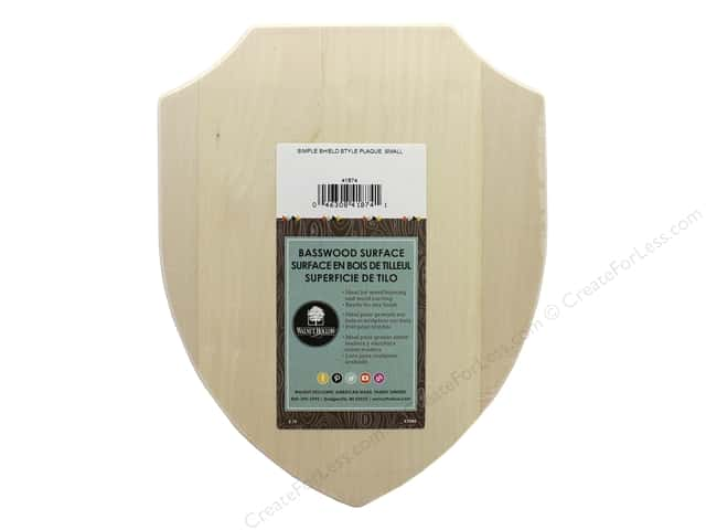 Walnut Hollow Wood Plaque Basswood Simple Shield 8 in. x 10 in.