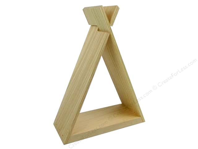 Walnut Hollow Wood Shelf Pine TeePee Mini 7.54 in. x 10.62 in.
