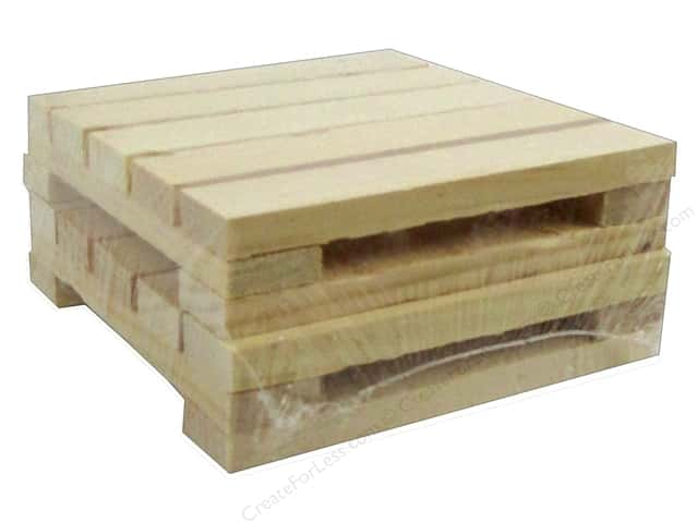 Walnut Hollow Wood Pallet Pine Coasters 4.25 in. x 4.25 in.
