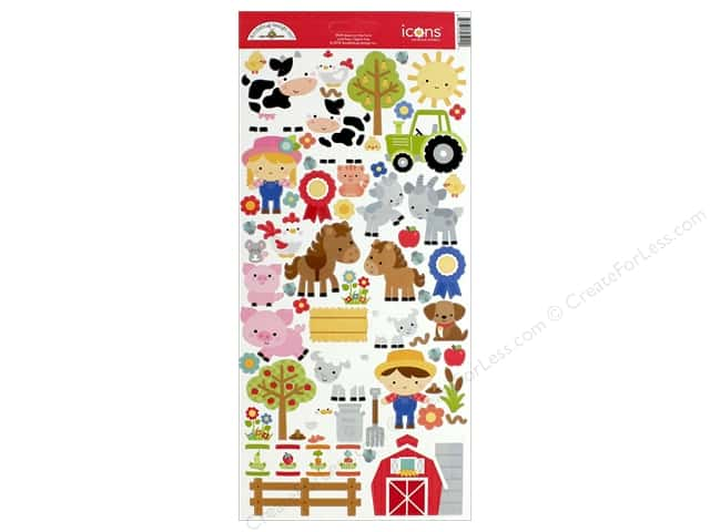 Doodlebug Collection Down On The Farm Sticker Icons (12 sets)