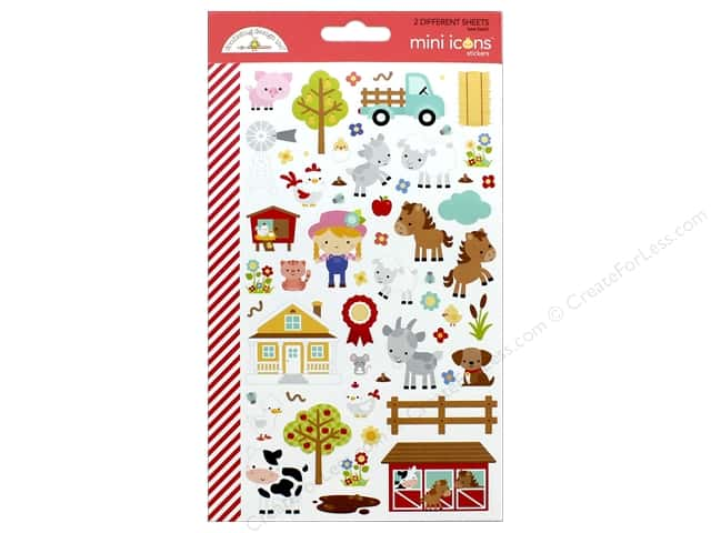 Doodlebug Collection Down On The Farm Sticker Mini Icons (12 sets)