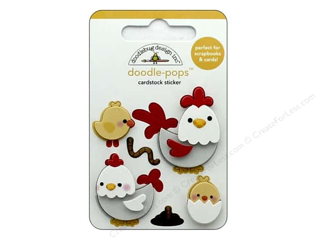 Doodlebug Collection Down On The Farm Doodle Pops Hen & Chicks