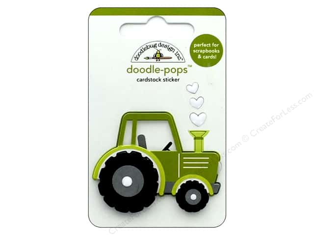 Doodlebug Collection Down On The Farm Doodle Pops Trusty Tractor