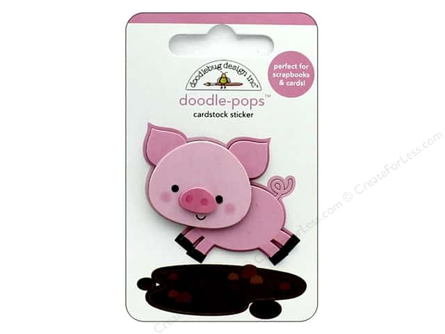 Doodlebug Collection Down On The Farm Doodle Pops Piggy