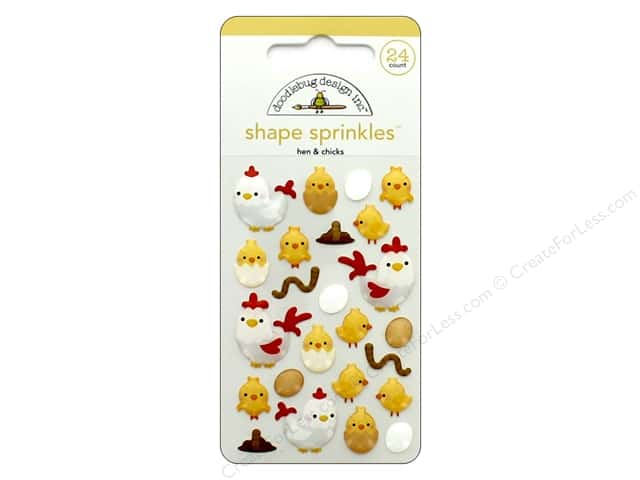 Doodlebug Collection Down On The Farm Sprinkles Shape Hen & Chick