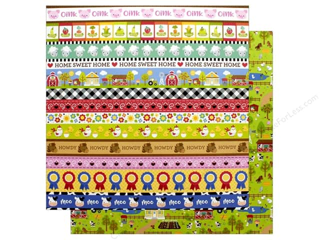 Doodlebug Collection Down On The Farm Paper 12 in. x 12 in. On The Farm (25 pieces)