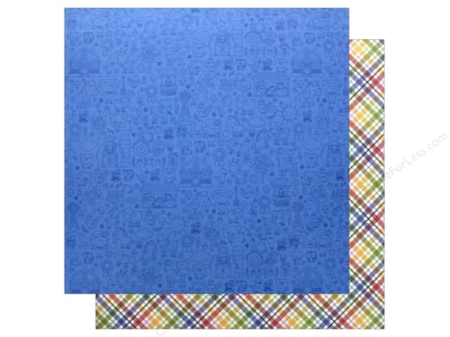 Doodlebug Collection Down On The Farm Paper  12 in. x 12 in. Farmer Flannel (25 pieces)