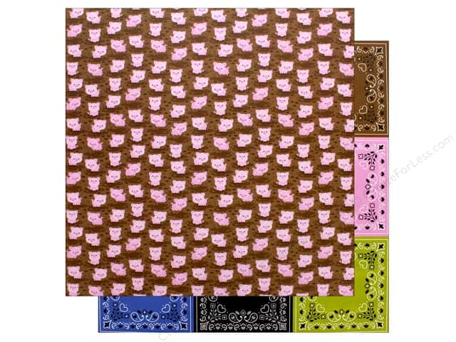 Doodlebug Collection Down On The Farm Paper 12 in. x 12 in. Hog Heaven (25 pieces)